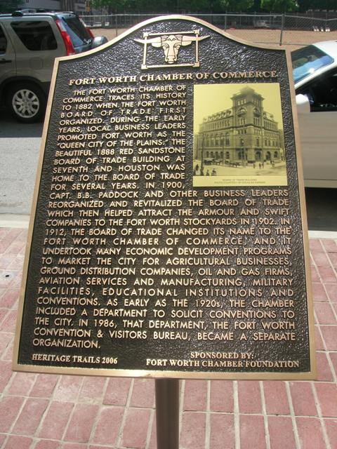 marker at Fort Worth Chamber of Commerce